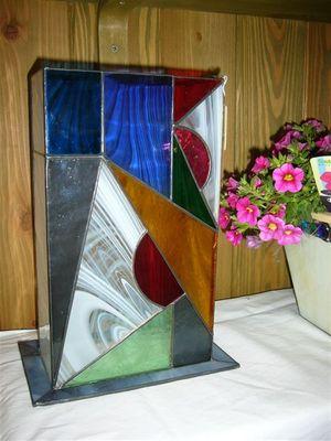 オリジナルデザインステンドグラス花瓶